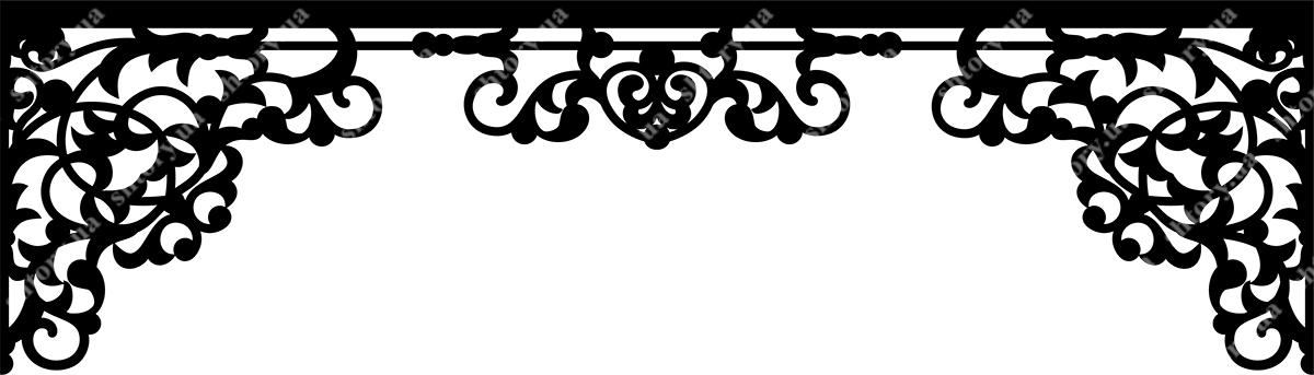 Ажурный ламбрекен схемы