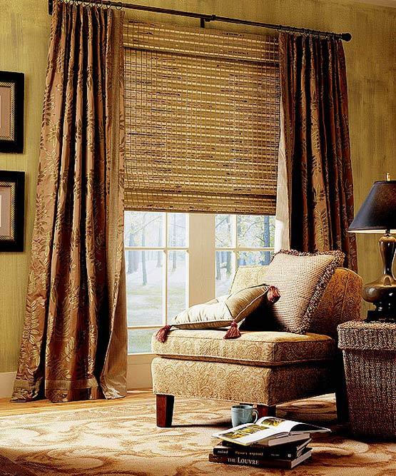 Натуральні рулонні штори